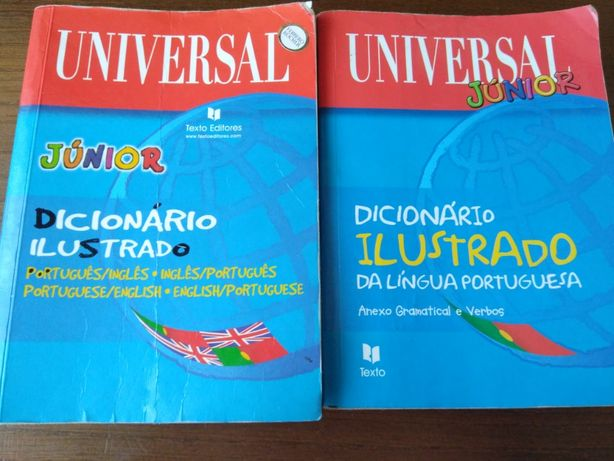 Dicionários ilustrados UNIVERSAL júnior da Texto Editora