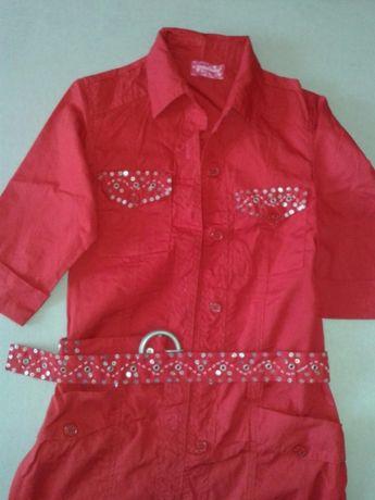 Рубашка на девочку 10-11 лет удлиненная