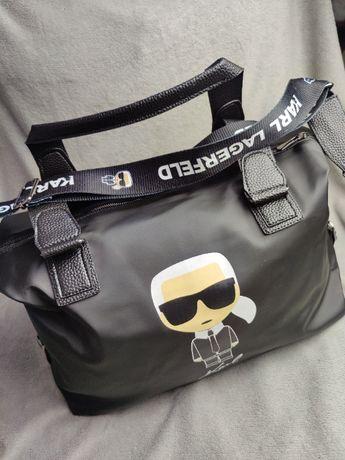 Torebka damska Karl Lagerfield Podróżna torba Premium