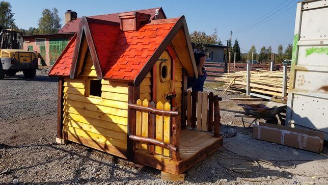 Drewniany domek ogrodowy dla dzieci PLAC ZABAW