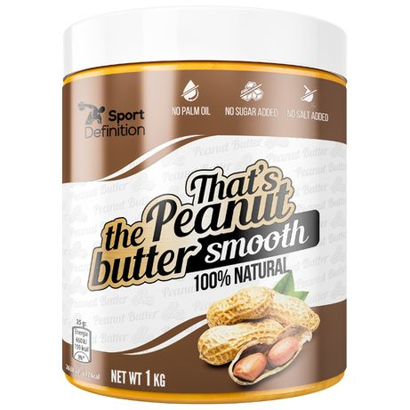 SportDefinition THAT'S THE PEANUT BUTTER Smooth– 1000g