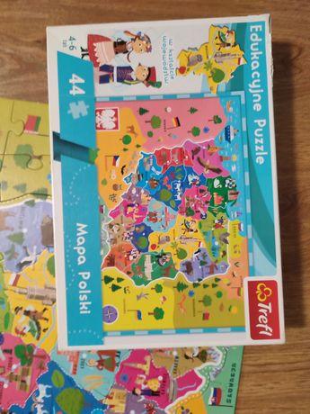 Puzzle dla dzieci mapa polski