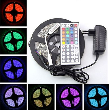 Pronta a usar -5m de fita RGB 3528 ,ip 33, controlador 44 teclas-2A