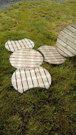 Podesty drewniane śr. 60 cm