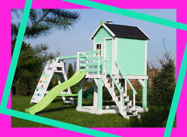 """XXL Bardzo duży """"prosty"""" domek dla dzieci - ogrodowy plac zabaw"""