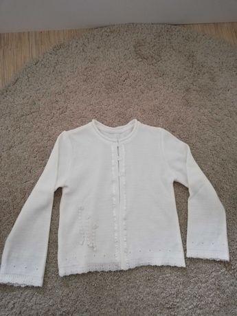 Biały sweterek r 146-152