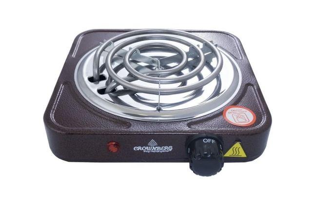 Новая Электроплита плита Crownberg электрическая печь 1000 Вт плитка