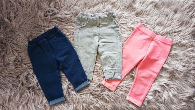 COCCODRILLO, 5 10 15 F&F spodenki legginsy jeansy r. 74