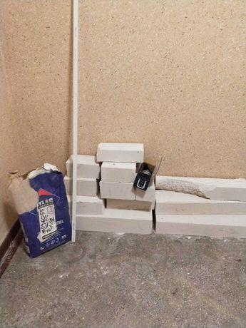 Bloczki betonowe, zaprawa klejowa oddam za darmo