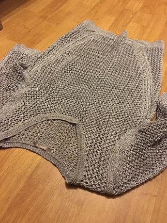 Ażurowy sweter Orsay 36 szary