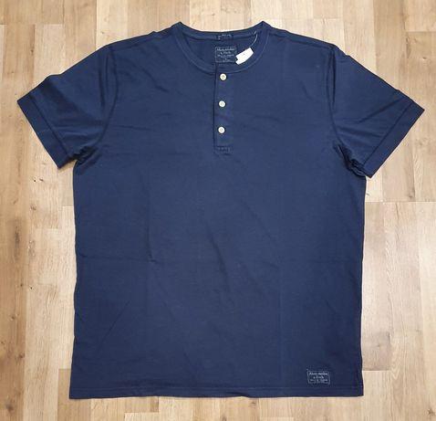 Jak nowy męski t-shirt koszulka Abercrombie and Fitch rozm L granatowy