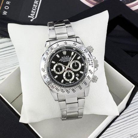 Наручные часы мужские в стиле Rolex Daytona Ролекс Дайтона Серебристые