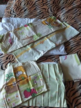Детское постельное белье + одеяло + подушка