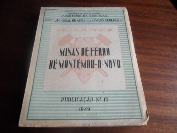 """""""Minas de Ferro de Montemor-o-Novo"""" de Adalberto de Andrade e Outros"""