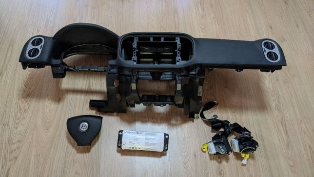 Conjunto Kit Airbags Volkswagen VW Tiguan Tablier Original