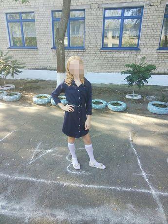 Платье-рубашка на девочку подростка