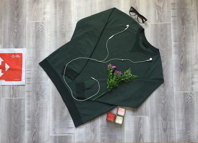 Свитер зеленый We, размер L Xl, тёплый котон шерсть кофта худи