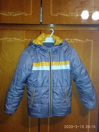 куртка демисезонная весенняя весняна для мальчика 122-128 6-7 лет