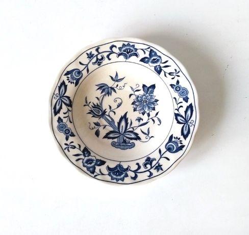 Spodek fajans ceramika wzór cebulowy Harmony House Japan kobalt
