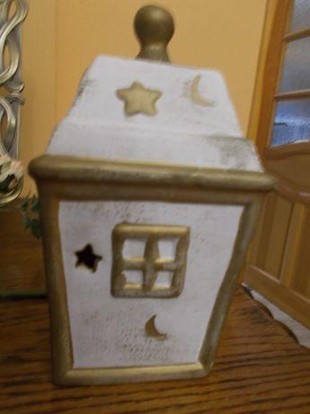 Domek ozdobny kominek dekoracja WYSYŁKA