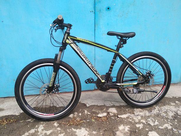 Подростковый скоростной велосипед диаметр колеса 24 д,рама 16