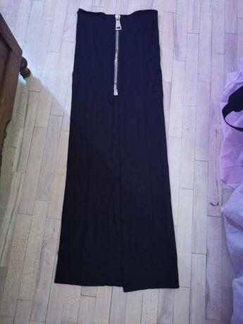 Piękna spódnica z wysokim stanem z rozporkiem i zamkiem New Look