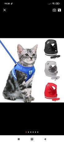 Colete com trela gato/cão TAM. M