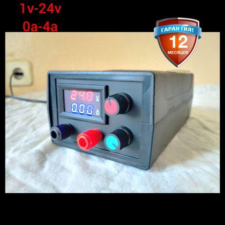 Лабораторный Блок питания Регулируемый от 1.2v-24v и от 0a-4a Зарядное