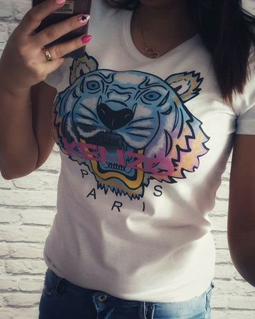 Koszulka t-shirt damski Kenzo Paris S M L XL Nowa