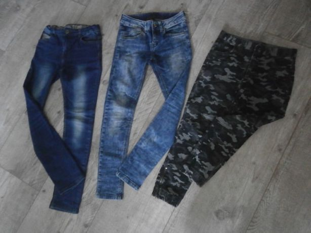 """Jeansy 146-152 Reserved tape""""al""""oeil Reporter Young SLIM 10-11-12 lat"""