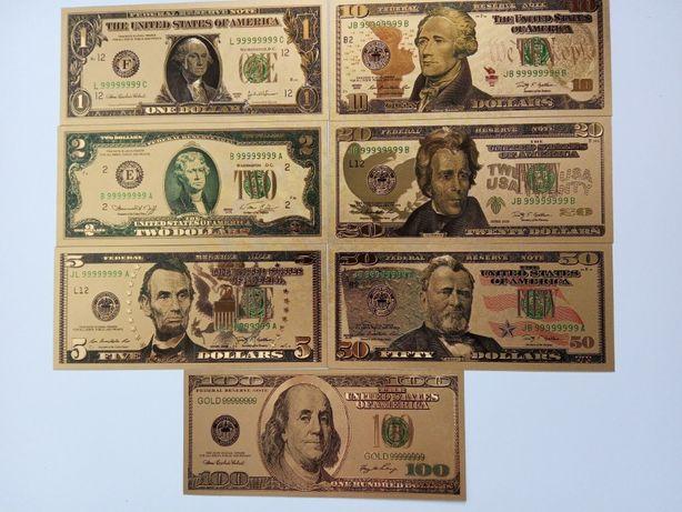 Dolar dolary banknoty metalizowane