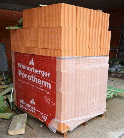 Porotherm Wienerberger 25 Profi Pustak szlifowany 64 sztuki