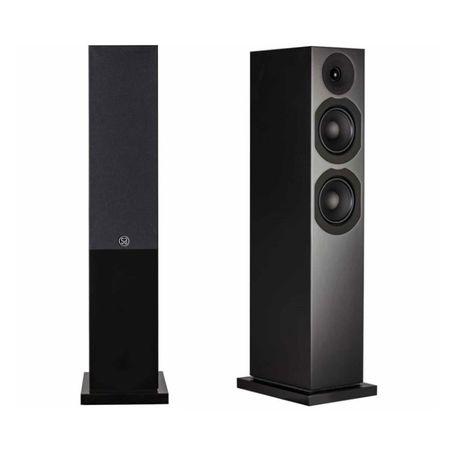 Kolumny podłogowe SYSTEM AUDIO SAXO 40 - black-nowe , gwarancja