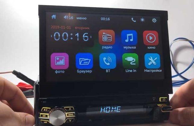 "Авто Магнитола 1din Pioneer Bluetooth Виезной Екран 7"" FullHD"