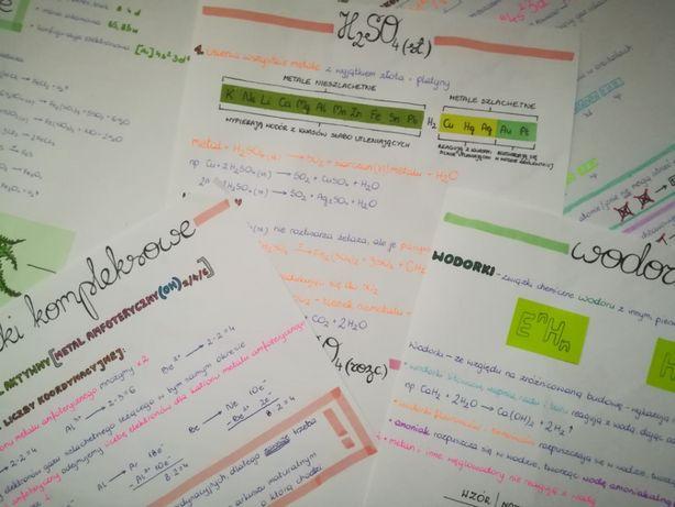 Notatki z chemii nieorganicznej do matury