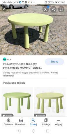 Stół mamut ikea zielony