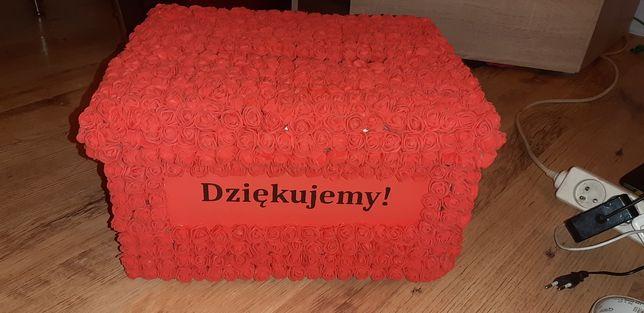 Pudełko na koperty - czerwone  dekoracje weselne