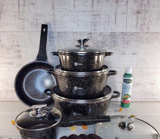 Набор кастрюль и сковорода Higher Kitchen HK-305, Набор посуды с грани