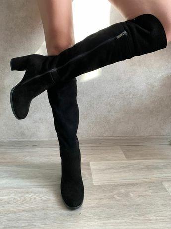 Новые сапоги(ботфорты) зимние женские (нат.велюр/мех) StepTer