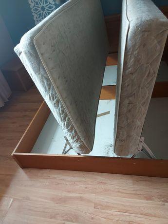 Lozko sypialniane z pojemnikiem na posciel