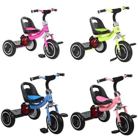 Трехколесный велосипед Turbo Trike M 3650-M музыка светящиеся колеса