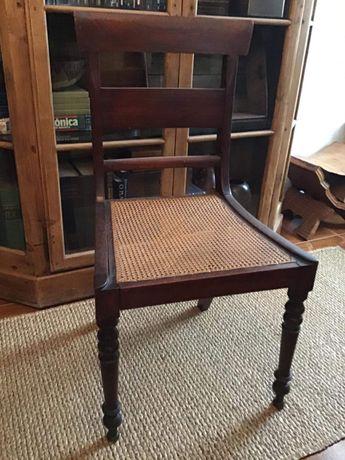 3 Cadeiras Palinha Madeira Antiga Vintage Decoração