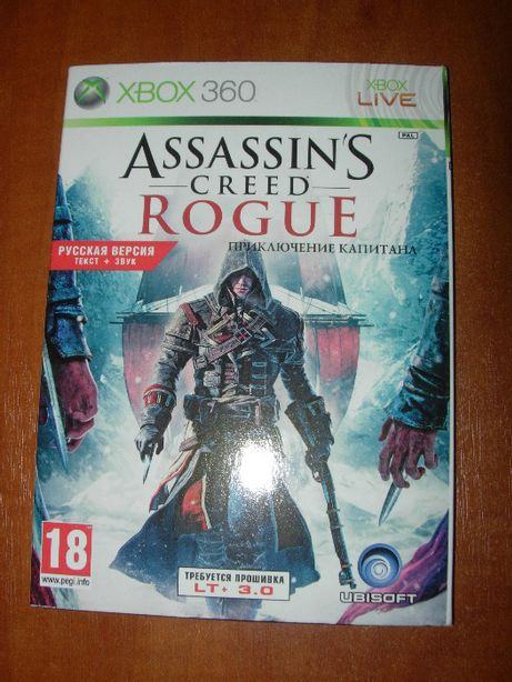 Assassin'S Creed Rogue. Новый Диск. Для LT 3.0 ХBOX360