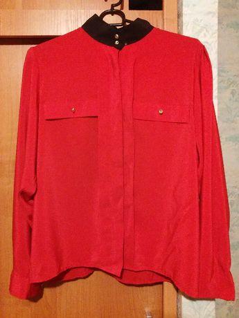 czerwona bluzka damska