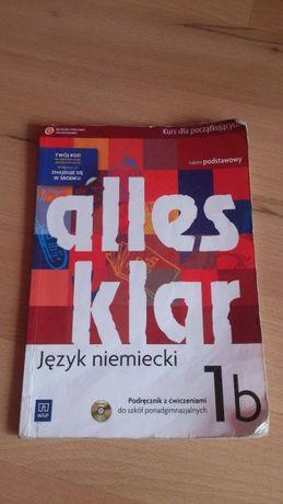 """J. niemiecki """"Alles Klar 1b"""" zakres podstawowy do liceum / technikum"""