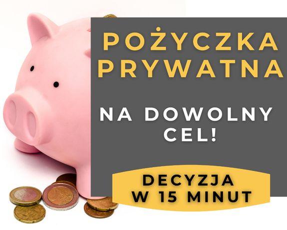 Pożyczka PRYWATNA - bez sprawdzania BAZ, nawet do 200 tys!