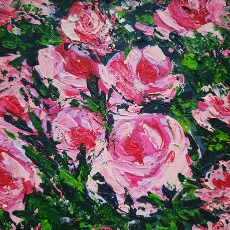 "Картина на холсте ""Цветы"", размер 30*30"