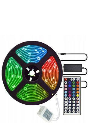 Kolorowa taśma led 15m LED RGB z pilotem do oświetlenia