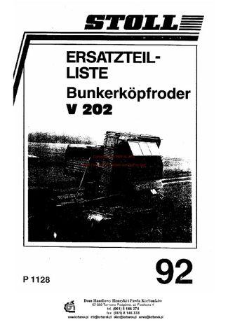 Katalog części Kombajn ziemniaczany Stoll V202