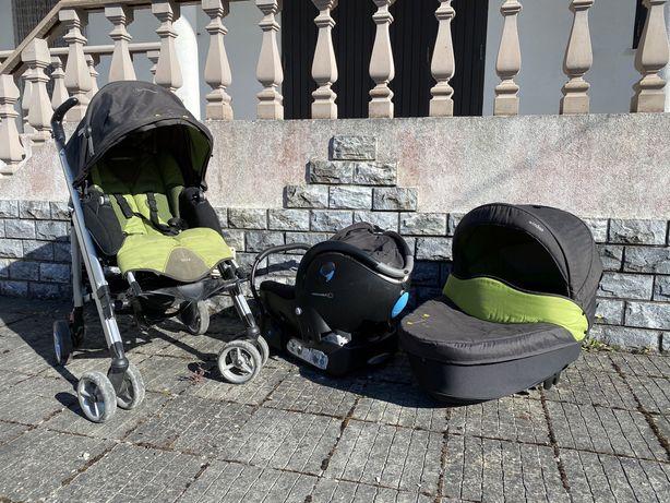 BebéConfort Trio +1 Carrinho, cadeira, ovo, alcofa, base auto